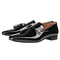 2017 Hot Selling black tassel men loafer Dress driving Shoes