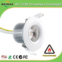 fire rated led down light COB China green life living room fire rated led downlight
