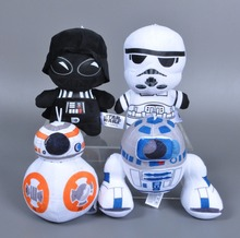 "Wholesale 8"" The force akakens /R2-D2,BB8,darth vader,stormtrooper plush toy for claw machine"