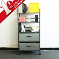 5 Tier Oem Storage Metal Adjustable Steel Shelving Book Shelf Stand With Caster