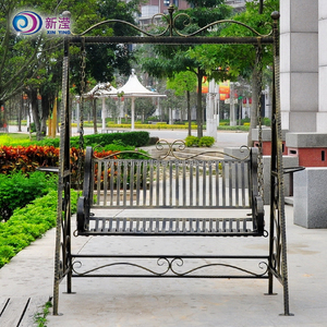 Competitive Price Outdoor Garden Wrought Iron Metal Garden Swing Chair