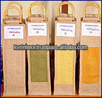 Exquisite Embroidery jute Wine Bag