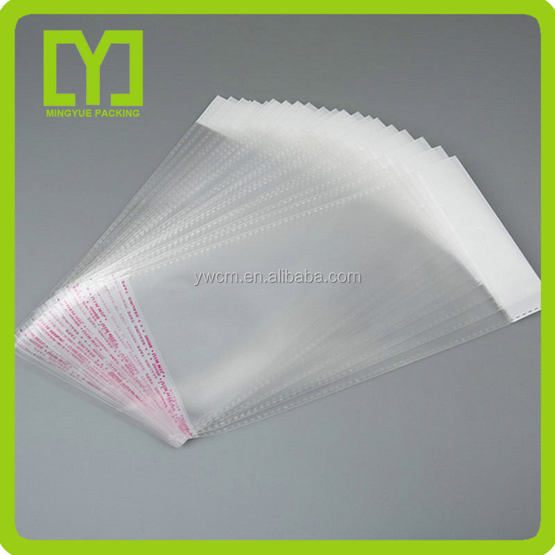 customize design transparent clear poly opp white header bag plastic packaging bags