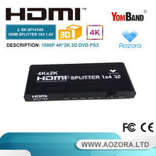 SK-SP1414S 1.4 version 4 way out hdmi splitter 1x4 support 3d / 2k / 4k