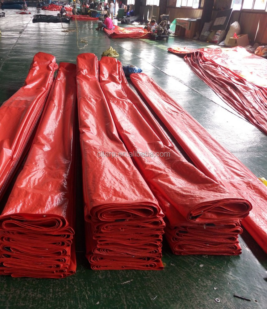 Cheap tarp !!! 90gsm <strong>pe</strong> tarpaulin with oranger color for truck cover !!!