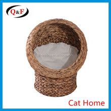 high quality rattan wicker pet bed Elevated Cat Bed