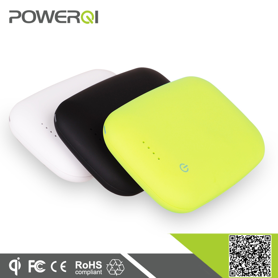 Qi universal wireless charging pad power bank 4000mah battery for cell phone