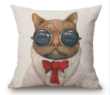 2015 China factories supply alibaba seller fashionable and comfortable soft 100% cotton decorative throw cat pillow cases