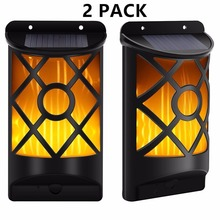 Path garden wall Flickering Lighting Outdoor Waterproof LED Solar Flame light