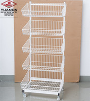 2020 New Style Custom Supermarket Shelf Wire Hanging Basket Display Rack