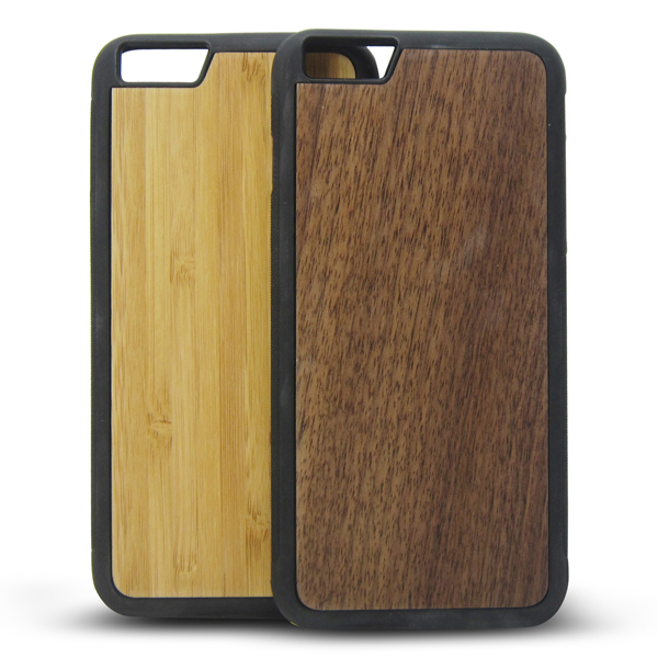 2016 Custom wood tpu case for iPhone6s, bamboo wood sticker back cover for iPhone 6s