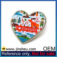 Custom Offset Printing Cheapest Aluminum Lapel Pin Canada Souvenir