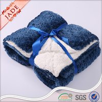 100% polyester solid brushed faux fur sherpa blanket