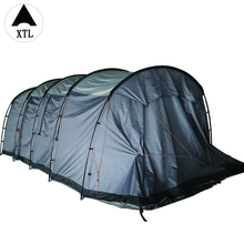 Grey forest hiking family travel camping tent with two living room