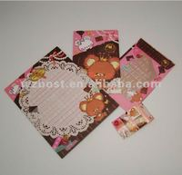 Japanese style printed letter paper