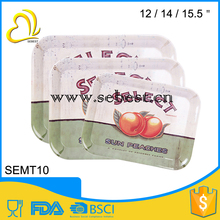 welcome inquiry plastic melamine serving food square hotel tray