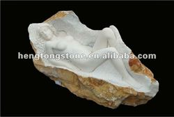 Natural Marble Nude Sleeping Female Statue