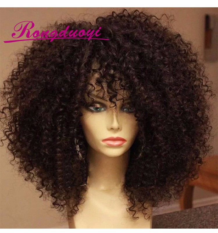 Virgin Hair Afro Kinky Curly Lace Front Wig Natural Afro Hair Invisible Hairline Full Lace Wig Part Anywhere Malaysian Hair Wig