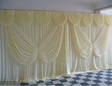 cheap buttery flower backdrop wedding curtains drapery pipe and drape stand white wedding backdrop for parties