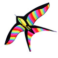rainbow colorful bird kite from the kite factory