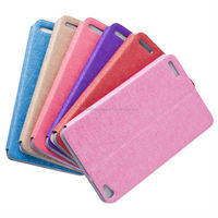 2014 colorful PU leather book stand mobile phone case for huawei honor X1 with window