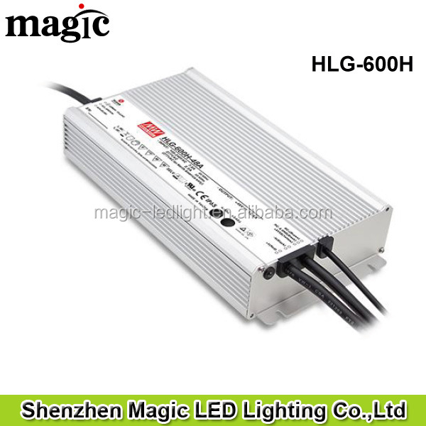 HLG-600H Meanwell 600W 5 years warranty IP67 / IP65 Outdoor use power supply
