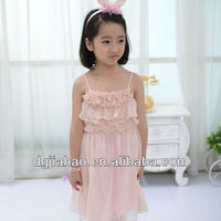2013 Hot Sale Fashion casual summer comfortable kids strapless dresses