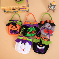 Halloween Candy tote Bag Trick-or-Treat Goody felt Bag