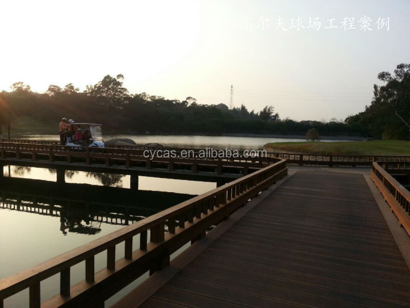 Outdoor strand woven bamboo bridge panel