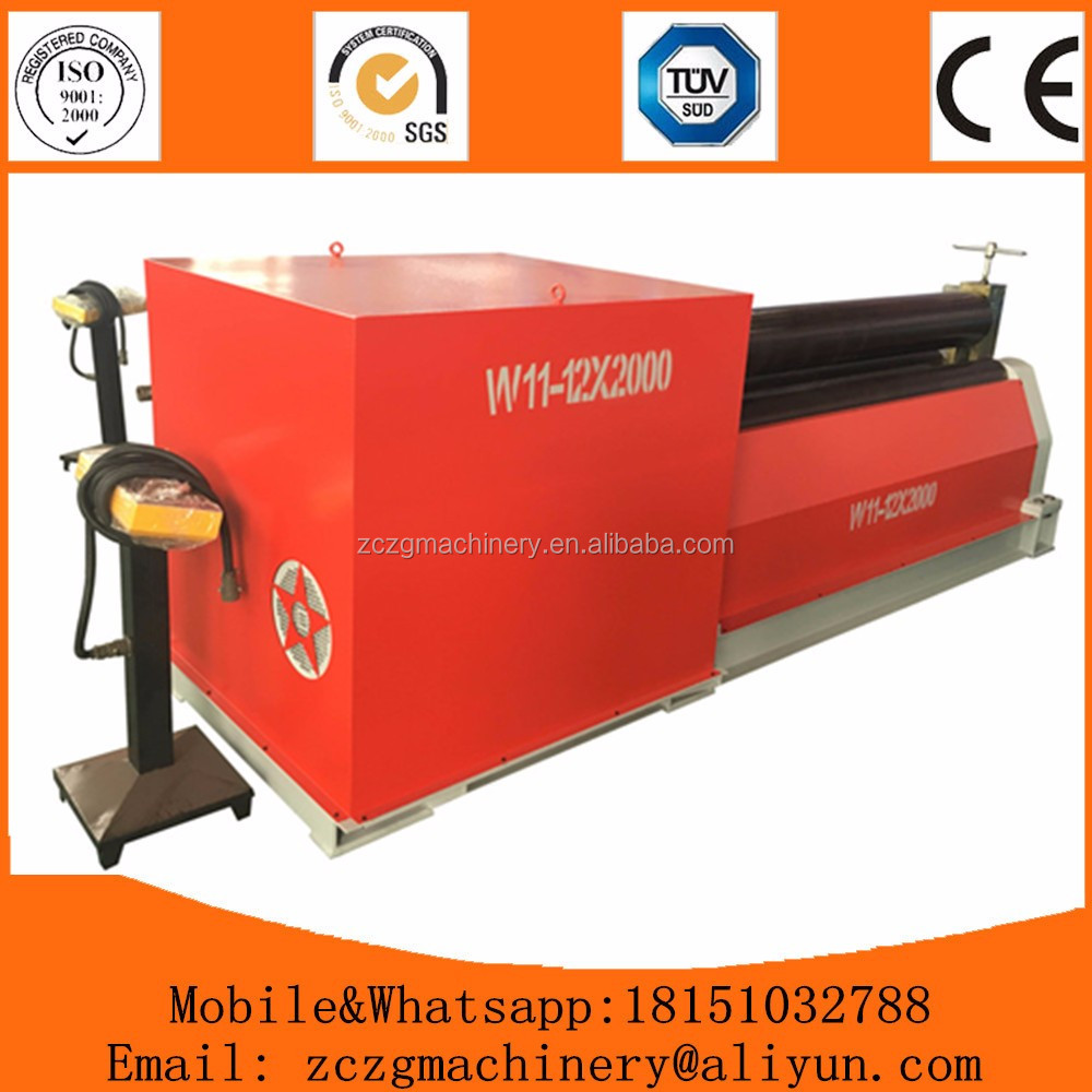 <strong>W11</strong> series steel sheet 3 rolls mechanical rolling machine with best price