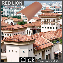 High quality flat clay roof tiles 001-A1355x195mm roof tiles