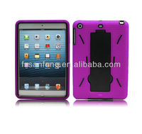 Robot design cute silicone case for ipad mini/colorful available for ipad stand/slicone case for ipad cover made in China