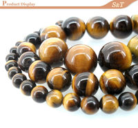 12mm Gemstone Round Bead natural stone wholesale price yellow tiger eye names of semi precious stones