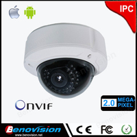H.264 2 megapixel ip camera P2P 2mp ip cam POE Zoom 2.8-12mm varifocal lens 3G mobile view / Onvif protocol / POE 720p ip camera