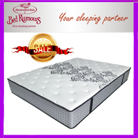 Compress packing memory foam mattress with spring bed mattress