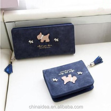W-033 Hot sale Manufacturer Cow Leather Purse Women Genuine Leather Long Wallets set