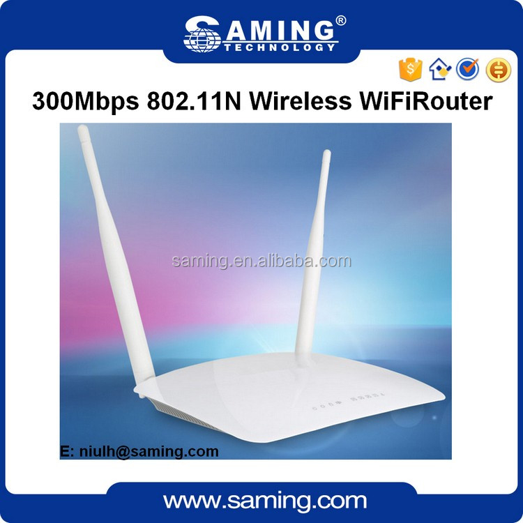 Factory wholesale 802.11n/b/g 300Mbps 2 antenna Wireless WIfi N Router