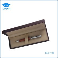 Best promotion/bird feathers sale/gift set metal leather pen