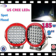 auto 12 volt led lighting 185w 4x4 offroad driving light 185w led work light for 4x4 offroad J EEP suv rv