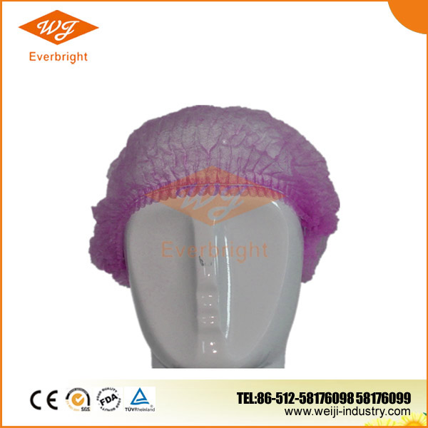 Disposable surgical printed bouffant caps
