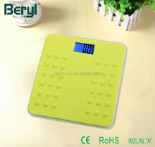 Alleviate fatigue digital silicone bathroom weighing scale BY823S-GN