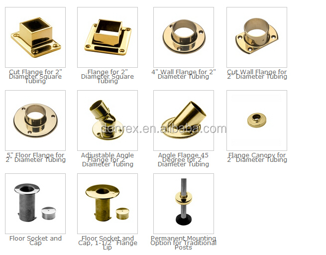 Stainless steel brass foot railing bracket for