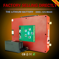 Hot selling car use lithium 12v 80ah 120ah 18650 best battery with factory prices