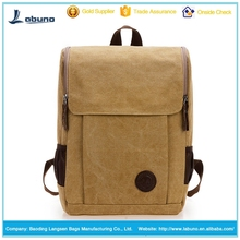 promotion Durable square shape customized leisure rucksack canvas backpack