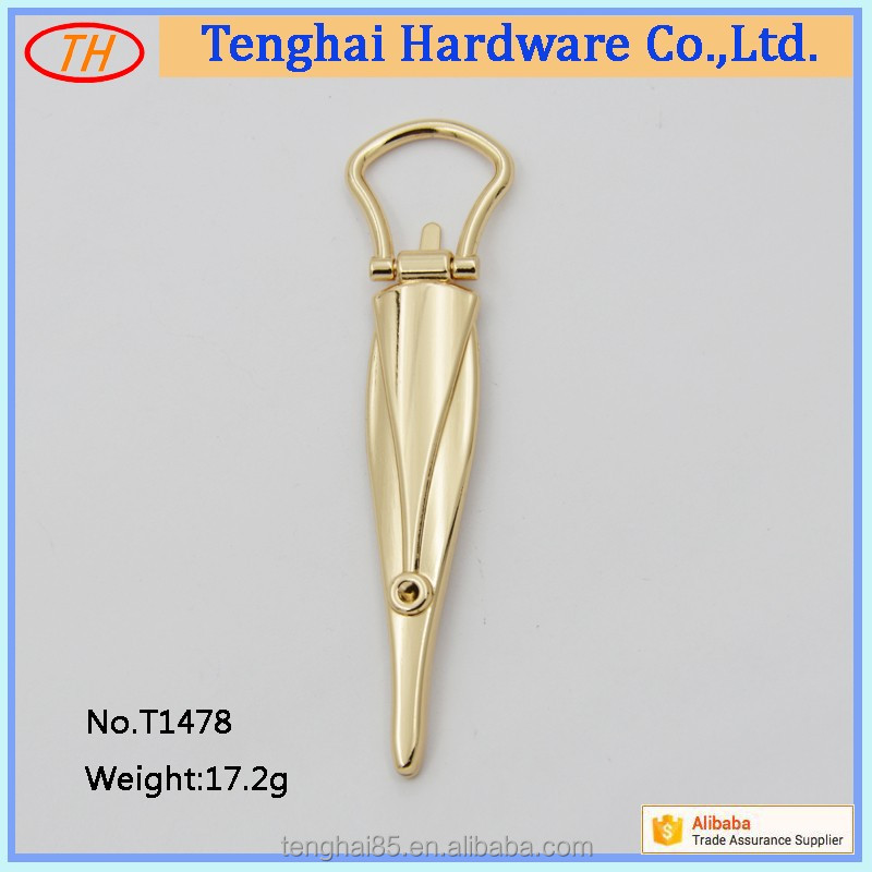 China manufacturer price custom fashion metal hardware handles accessories for women bag