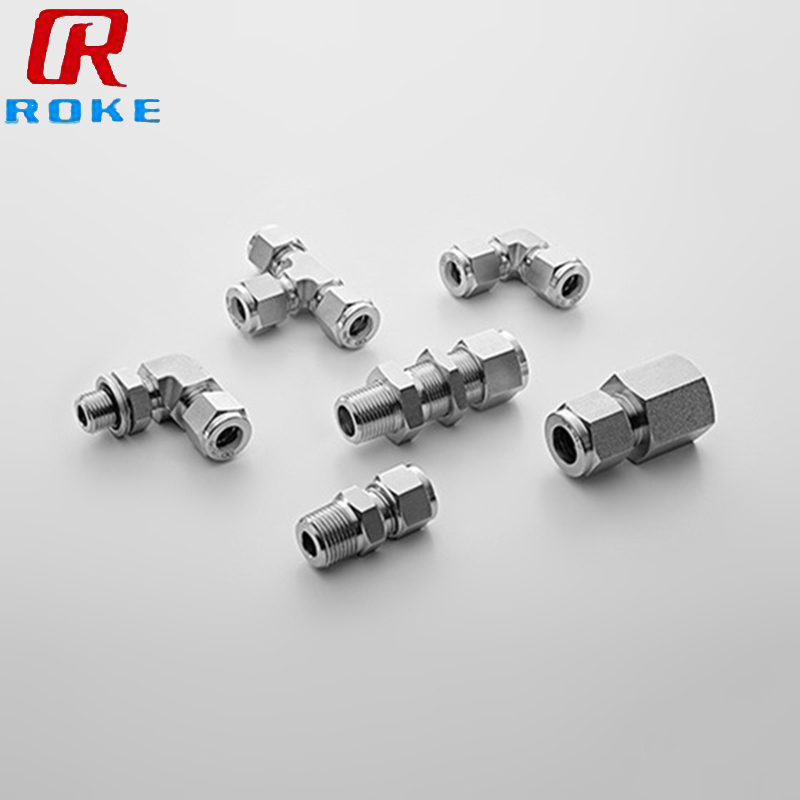 elbow union connector stainless steel compression fittings hot male tube fittings