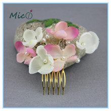 The Metal In The Latest Fashion With The Artificial Flowers Bridal Hair Comb Headpiece Bridal