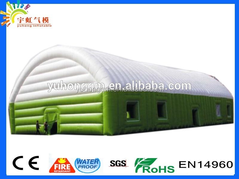 Giant sugar party pvc inflatable green and white color residential wedding tents