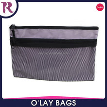 wholesale PVC double-deck zipper document bag