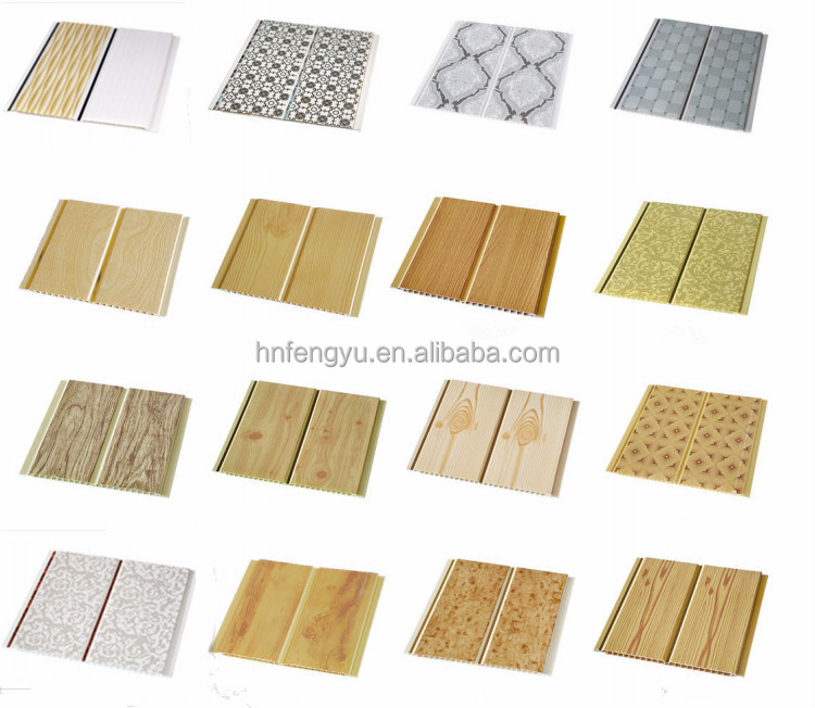 Morden freely design wooden pvc ceiling panel decoaration for china manufature